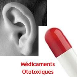 Médicaments ototoxiques dégradent l'audition