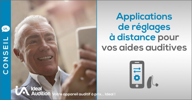 Applications de réglages à distance pour vos aides auditives
