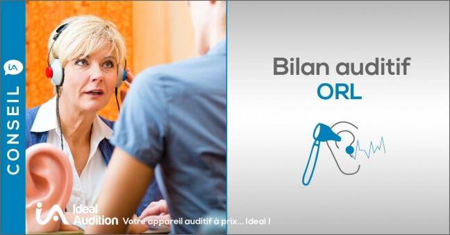 Bilan auditif ORL avec test d'écoute