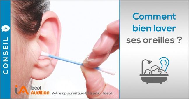 laver ses oreilles correctement